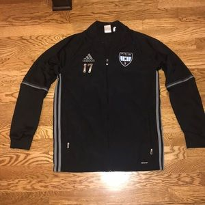 adidas light athletic/ running/ soccer jacket